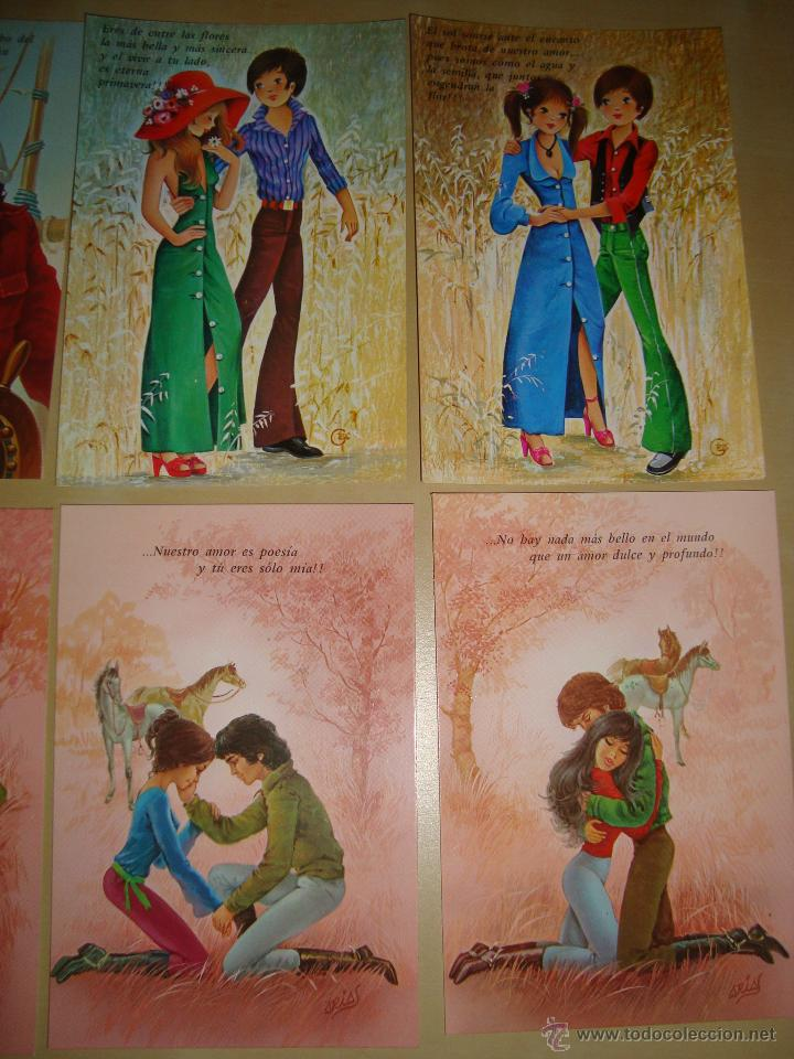 Postales: LOTE DE 9 POSTALES DIBUJOS ROMANTICOS - Foto 2 - 49115507