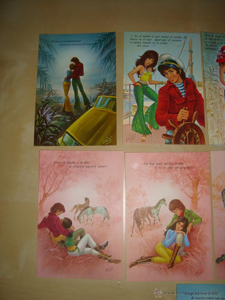 Postales: LOTE DE 9 POSTALES DIBUJOS ROMANTICOS - Foto 3 - 49115507