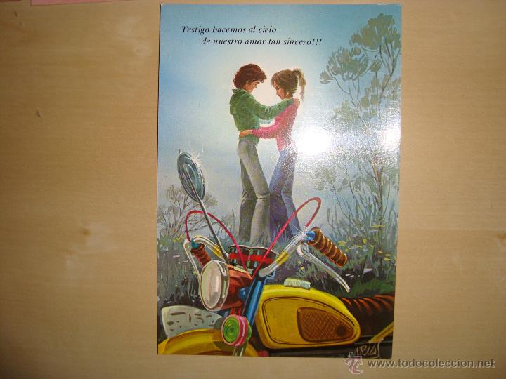 Postales: LOTE DE 9 POSTALES DIBUJOS ROMANTICOS - Foto 4 - 49115507