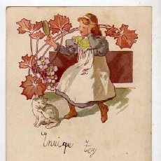 Postales: ANTIGUA POSTAL MODERNISTA. CIRCULADA AÑOS 1900S. Lote 49512981
