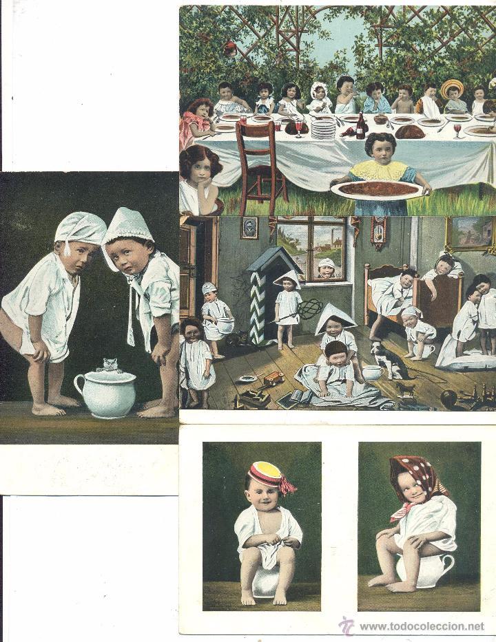 LOTE POSTALES DIBUJOS DE NIÑOS (Postales - Dibujos y Caricaturas)