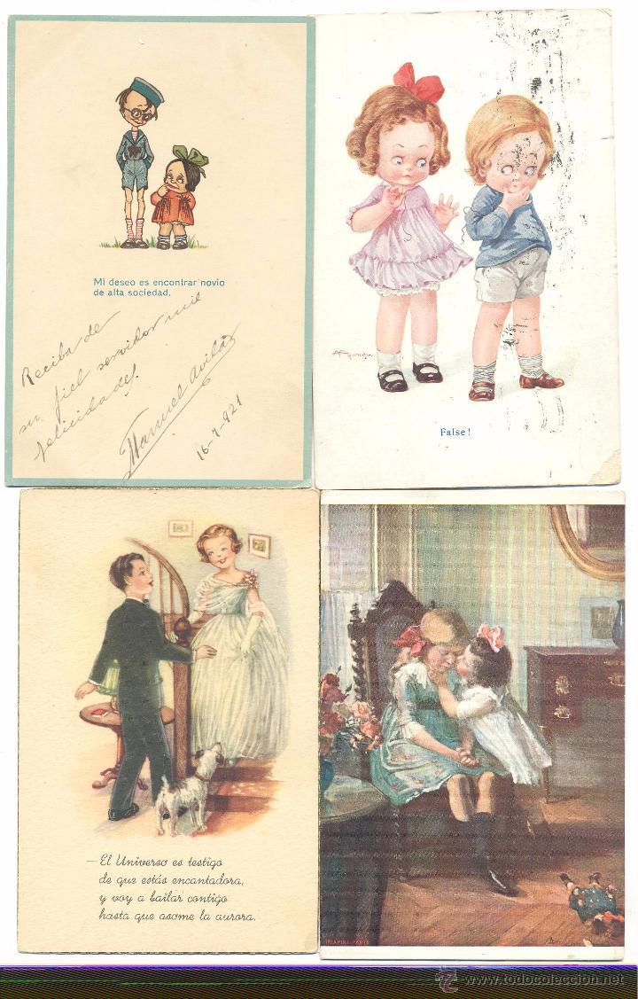 LOTE POSTALES DIBUJOS DE ÑIÑOS (Postales - Dibujos y Caricaturas)