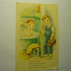 Postales: POSTAL LAMPISTA DIBUJO GIRONA .- ESCRITA SERIE 91. Lote 49600205