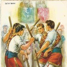 Postales: POSTAL CREACIONES FREIXAS CARICATURA DIBUJO ILUSTRADOR FREIXAS SERIE 327 AÑO 1946 BALL DE BASTONS. Lote 49726243