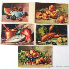 Postales: P1583 - LOT 5 POSTALES DIBUJOS DE BODEGONES. CIRCULADAS. Lote 49979444