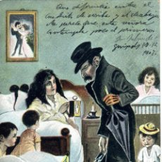 Postales: POSTAL CARICATURESCA DE ESCENA FAMILIAR. PRINCIPIOS S. XX. ALEMANA SERIE: 4152. Lote 50163815