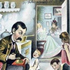 Postales: POSTAL CARICATURESCA DE ESCENA FAMILIAR. PRINCIPIOS S. XX. ALEMANA SERIE: 4152. Lote 50163846