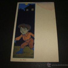 Postales: POSTAL ILUSTRADA NIÑO L. ROMANET ILUSTRADOR HACIA 1904. Lote 50364552