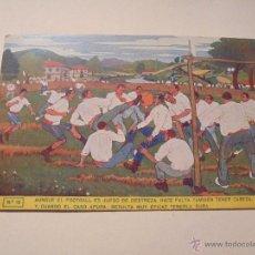 Cartoline: PAIS VASCO - FUTBOL JOSE ARRUE 1914 Nº13 POST. LUX BILBAO - AUNQUE EL FOOTBALL ES JUEGO DE DESTREZA . Lote 50437018