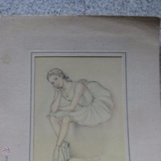 Postales: POSTAL BAILARINA ILUSTRADA F. GISBERT SOLER. Lote 50643778
