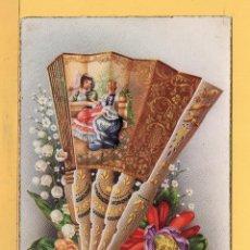 Postales: POSTAL DE DIBUJO AVANICO DECORRADO DIBUJO C- VIVES EDITOR C. Y Z. ESCRITO EN AÑO 1953. Lote 50671958