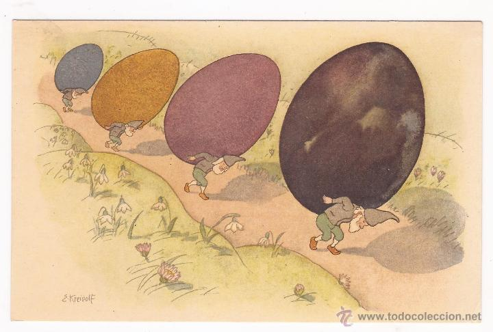 POSTAL PRO JUVENTUTE / PAQUES / ATELIERS DES ARTS GRAPHIQUES FRETZ FRÈRES/ 1918 / ZURICH / SIN USAR (Postales - Dibujos y Caricaturas)