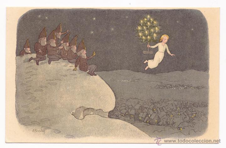 POSTAL PRO JUVENTUTE / NOËL / ATELIERS DES ARTS GRAPHIQUES FRETZ FRÈRES/ 1918 / ZURICH / SIN (Postales - Dibujos y Caricaturas)