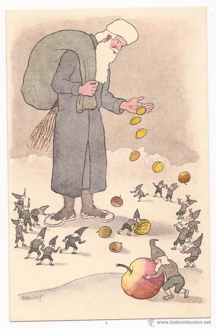 POSTAL PRO JUVENTUTE / ST. NIKOLAUS / GRAFH WERKSTÄTTEN GREB.FRETZ / 1918 / ZURICH / SIN USAR (Postales - Dibujos y Caricaturas)