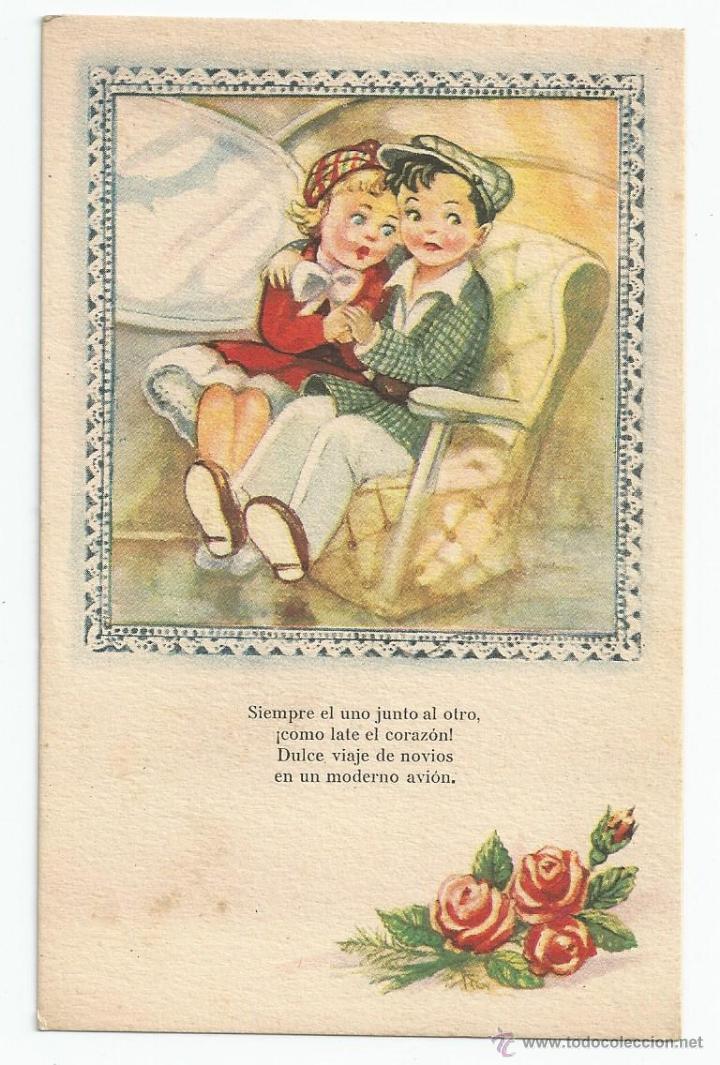 postal etapas de la vida viaje de novios en av  Comprar Postales