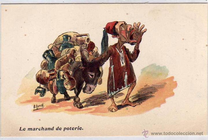 Caricatura Humor Tipo Popular Norte De Africa Comprar Postales