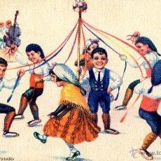 Postales: POSTAL ILUSTRADA POR OPISSO. BALL DE GITANES DEL PANADÈS. NUM. 37.BALLS REGIONALS . Lote 51209864