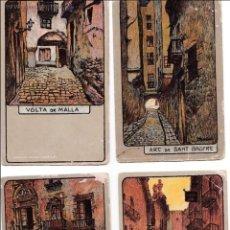 Postales: P- 2426. LOTE DE 4 POSTALES DIBUJADAS CALLES DE BARCELONA. MORALES SERIE I.. Lote 51224719
