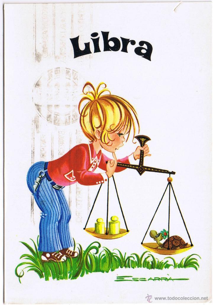 HOROSCOPO - LIBRA (Postales - Dibujos y Caricaturas)