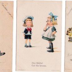 Postales: P- 2813. LOTE 3 POSTALES ILUSTRACIONES DE EDWARD GROSS & CO. CH TWELVETREES. Nº 43, 63 Y 14.. Lote 51928681