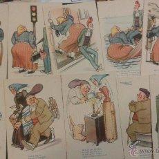 Postales: SERIE COMPLETA 10 POSTALES CMB,SERIE 114. CONVERSACIONES ENTRE ELLA Y ÉL. CATALUNYA. HUMOR CATALAN. Lote 52820536
