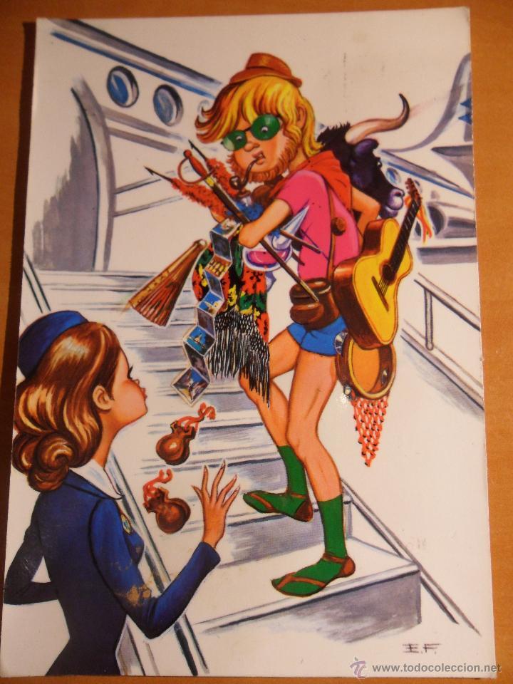 POSTAL CON DIBUJO. AÑOS 70. ESCRITA Y SELLADA. (Postales - Dibujos y Caricaturas)