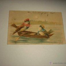 Postales: PRECIOSA POSTAL DE PAJAROS . CIRCULADA, ZURICH 1911. Lote 52926354