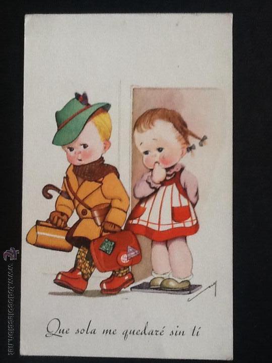 Postales: POSTALES ANTIGUAS CON DIBUJOS 4 postales sin circular - Foto 7 - 53811585