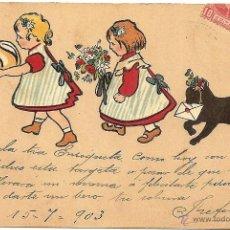 Postales: POSTAL CIRCULADA AÑO 1903 A CARTAGENA (MURCIA) - GESETZLICH GESCHÜTZT Nº 1129 ERIKA. Lote 54046101