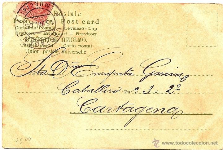 Postales: POSTAL CIRCULADA AÑO 1903 A CARTAGENA (MURCIA) - GESETZLICH GESCHÜTZT Nº 1129 ERIKA - Foto 2 - 54046101