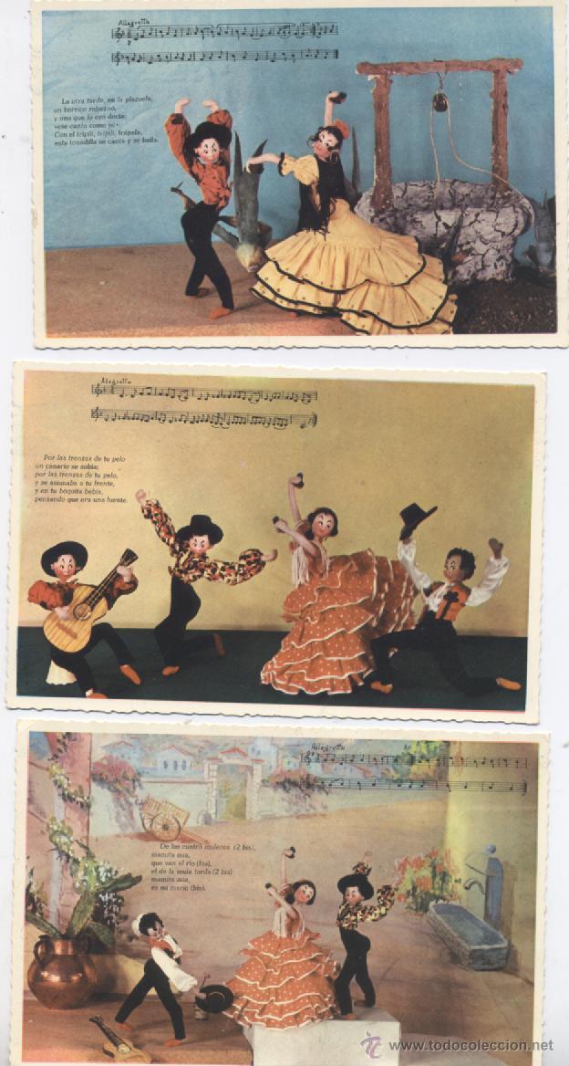 COLECCION DE 8 POSTALES FOLKLORICAS (Postales - Dibujos y Caricaturas)