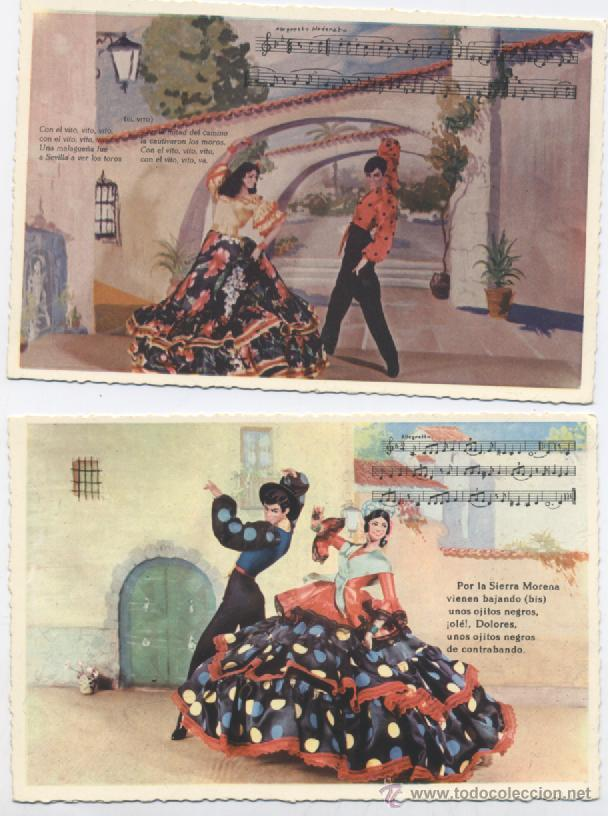 Postales: COLECCION DE 8 POSTALES FOLKLORICAS - Foto 3 - 54064569