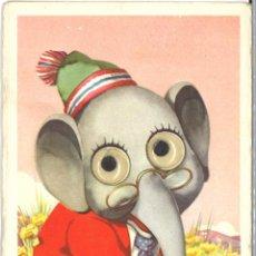 Postales: POSTALES ANIMALES - ELEFANTE - 1955 - CIRCULADA. Lote 54125685