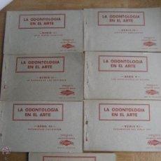 Postales: LA ODONTOLOGIA EN EL ARTE. 7 CARNETS CON 35 POSTALES TEMATICA MEDICINA, DENTISTA. DONNER. Lote 54440598