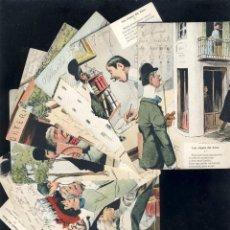 Postales: SERIE COMPLETA DE 10 POSTALES ILUSTRADAS POR VERDUGO: LAS ETAPAS DEL AMOR (ED. JOSE BLASS). Lote 54694047
