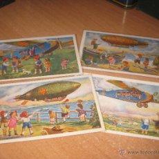 Postales: 4 POSTALES SERIE AVIACIO. Lote 54729739