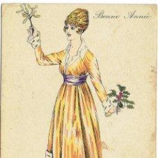 Postales: PS5156FANTASIES PARISIENNES 'AQUARELLÉES'. ILUSTRADA XAVIER SAGER. CIRCULADA 1917. Lote 46055646