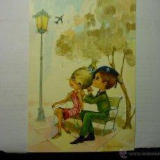 Postales: POSTAL PAREJA NOVIOS .-MILITAR--ESCRITA. Lote 54887169