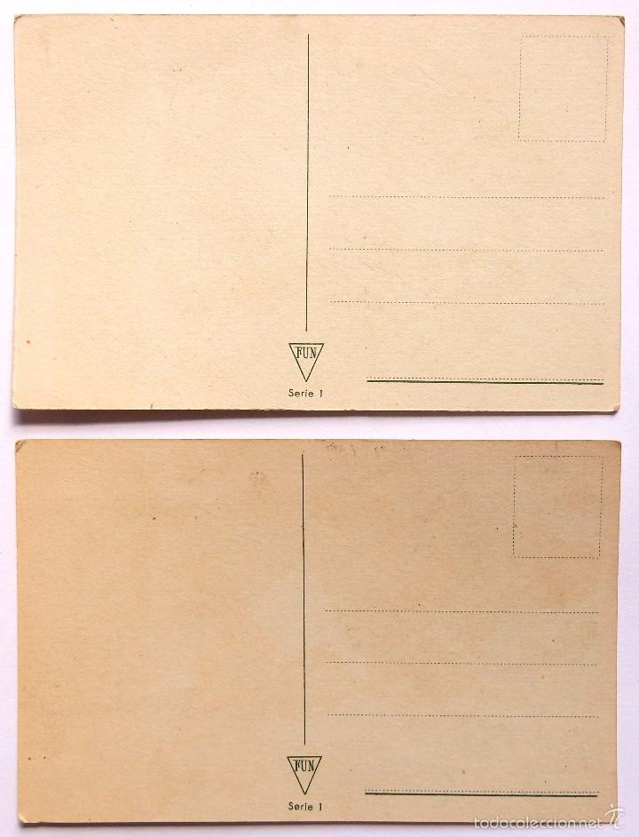Postales: LOTE 2 POSTALES ILUSTRADAS POR NIUBO. SERIE 1. EDICIONES FUN AÑOS 40 POSTAL MARINERO - Foto 2 - 55102468
