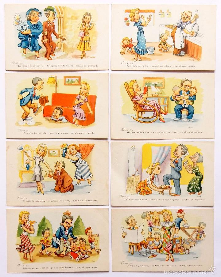 LOTE 8 POSTALES ILUSTRADAS POR CELMA SERIE 1230 CÁSATE Y... PABLO DÜMMATZEN BARCELONA POSTAL (Postales - Dibujos y Caricaturas)