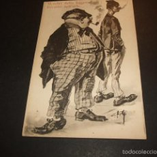 Postales: POSTAL COMICA HACIA 1910 FUMADORES. Lote 55574535