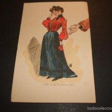 Postales: POSTAL COMICA HACIA 1910. Lote 55574552