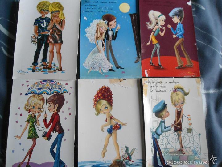 LOTE POSTALES (Postales - Dibujos y Caricaturas)