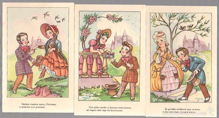 LOTE DE 3 TARJETAS POSTALES ILUSTRADAS POR ZSOLT. CMB. SERIE 64. (Postales - Dibujos y Caricaturas)