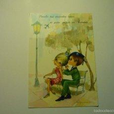 Postales: POSTAL PAREJA SOLDADO -DIBUJO GLORIA ESCRITA. Lote 57404267