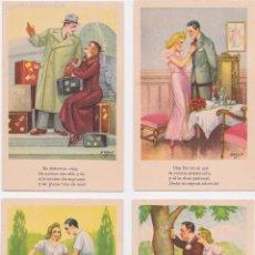 Postales: P- LOTE 4 POSTALES ILUSTRACIONES CMB SERIE Nº17.. Lote 57700435