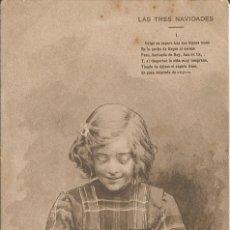 Postales: CAMPOAMOR V, S.DOLORAS N2 - LAS 3 NAVIDADES - IL. P.CARCEDO- HAUSER Y MENET-S DIVIDIR-CIRCULADA 1902. Lote 58254081