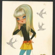 Postales: POSTAL *M.R. MARTA RIBAS* - SERIE HIPPIES, TUSET STREET Nº 1 - (1969). Lote 59066480