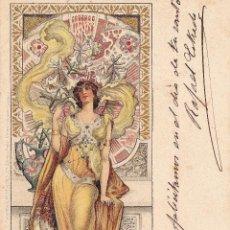 Postales: EVA DANIELL. POSTAL CROMOLITOGRÁFICA. CIRCULADA. AÑO 1903. MUY BUEN ESTADO.. Lote 59495015