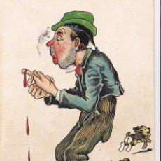 Postales: PERSONAJE SANGRANDO. CIRCULADA EN 1907 A ARGENTINA.. Lote 60043323